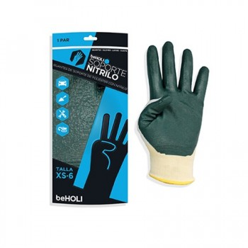 NYLON-NITRILE SUPPORT GLOVES