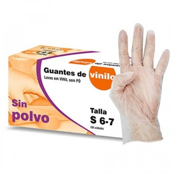 LUVAS VINILO CAIXA 100 PC