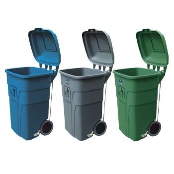 contenedor basura de 120 litros con pedal apertura