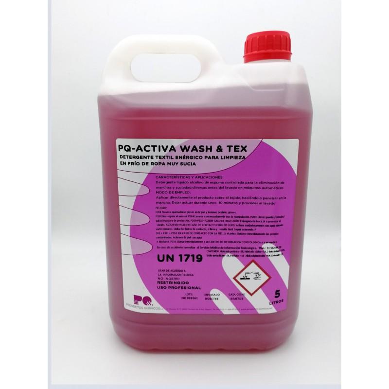 PQ-ACTIVIA WASH & TEX 5LT- Detergente eliminación de manchas