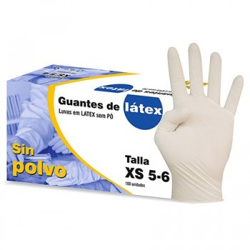 GUANTES LATEX SIN POLVO CAJA 100 UD